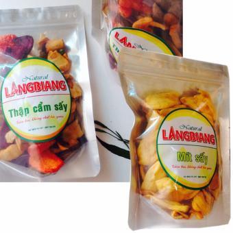 Bộ 2, trái cấy Thập Cẩm Sấy(500gr) - Mít Sấy Giòn(200gr) , ngon giòn, ăn là ghiền