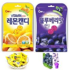 Bộ 2 Túi Kẹo Cứng Trái Cây Hàn Quốc Vị Việt Quất+Chanh (100g/túi)