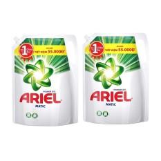 Bộ 2 túi nước giặt Ariel Matic Base gel đậm đặc 2.4kg