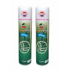 Bộ 2Nước hoa xịt phòng Sandokkaebi Khử Mùi Thuốc Lá 370ML Hương Bạc Hà TI773