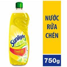 Bộ 3 chai nước rửa chén Sunlight chanh 100 750g