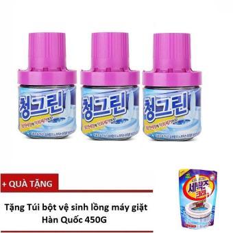 Bộ 3 chai thả bồn cầu diệt khuẩn, khử mùi Hàn Quốc - 400g/Chai + Tặng 1 Túi tẩy vệ sinh lồng giặt Hàn Quốc - 8353631 , NO007WNAA2UZIUVNAMZ-4932284 , 224_NO007WNAA2UZIUVNAMZ-4932284 , 259000 , Bo-3-chai-tha-bon-cau-diet-khuan-khu-mui-Han-Quoc-400g-Chai-Tang-1-Tui-tay-ve-sinh-long-giat-Han-Quoc-224_NO007WNAA2UZIUVNAMZ-4932284 , lazada.vn , Bộ 3 chai thả bồn c