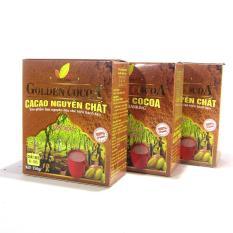 Bộ 3 hộp 150g cacao nguyên chất Golden Cocoa dùng làm bánh kẹo