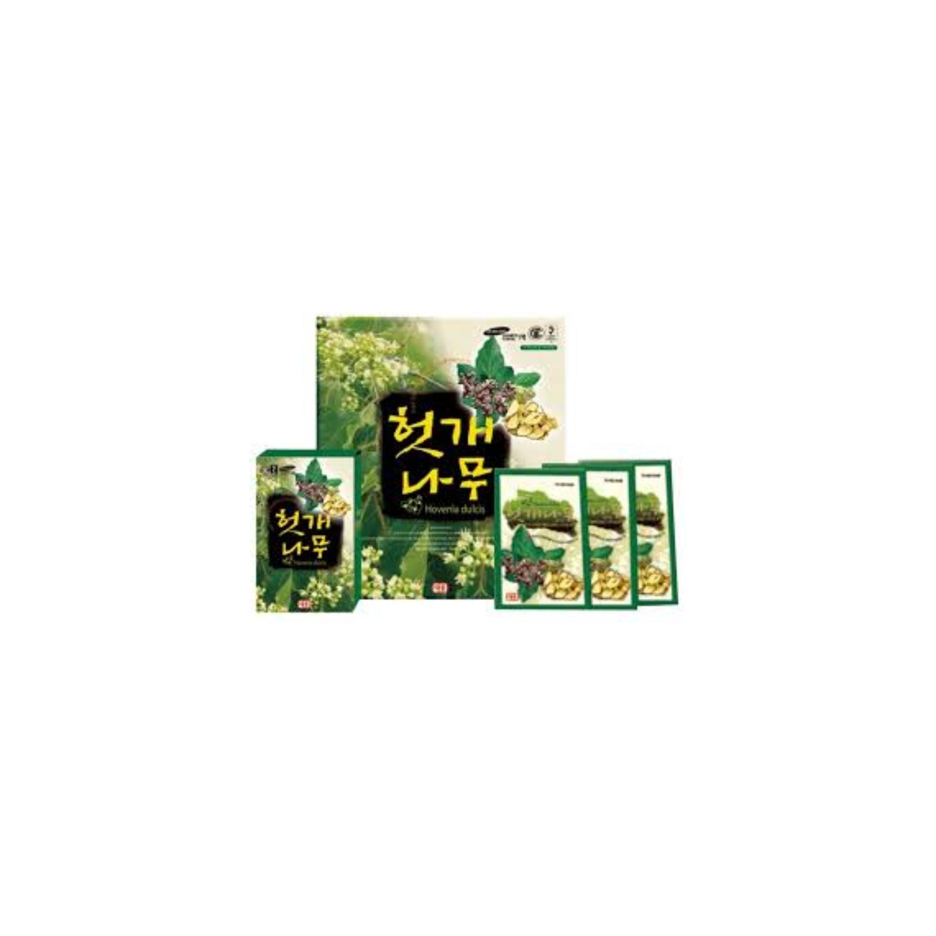 Bộ 3 Hộp Nước uống giải rượu, bổ gan thải độc Hovenia TW Hàn Quốc (Hộp 5 gói x 75ml/gói)