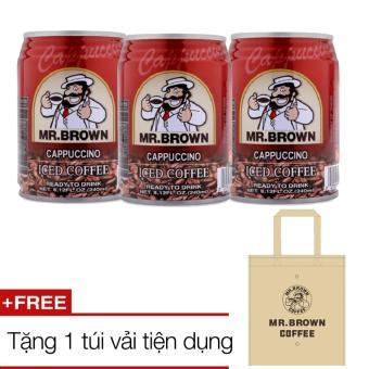 Bộ 3 lon cà phê Mr Brown Cappuccino + tặng 1 túi vải - 8272020 , MR754WNAA67GC1VNAMZ-11452063 , 224_MR754WNAA67GC1VNAMZ-11452063 , 46200 , Bo-3-lon-ca-phe-Mr-Brown-Cappuccino-tang-1-tui-vai-224_MR754WNAA67GC1VNAMZ-11452063 , lazada.vn , Bộ 3 lon cà phê Mr Brown Cappuccino + tặng 1 túi vải