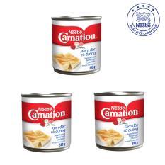 Bộ 3 Lon Kem Sữa Đặc Có Đường Nestlé Carnation (388g/Lon)