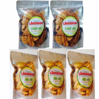 Bộ 3 Mít sấy giòn,ăn là mê (200gr) và bộ 2 chuối sấy giòn (400gr)