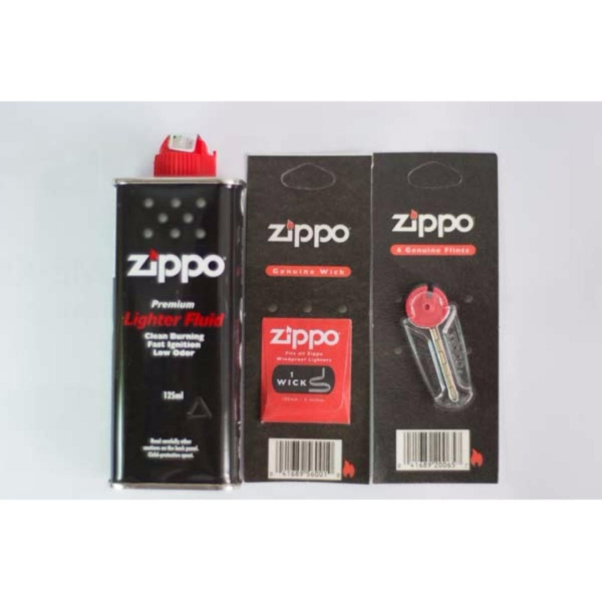 Bộ 3 sản phẩm Xăng, Đá, Bấc Zippo