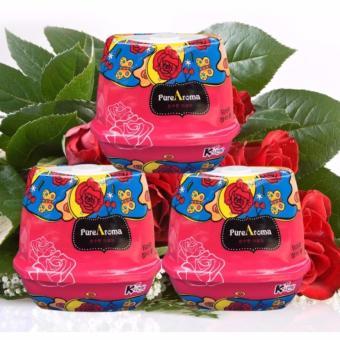 Bộ 3 Sáp thơm phòng khử mùi PureAroma Korea ( Hương hoa hồng )