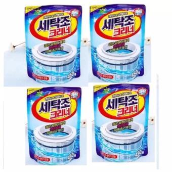 Bộ 4 gói bột vệ sinh tẩy lồng máy giặt Hàn Quốc 450Gr
