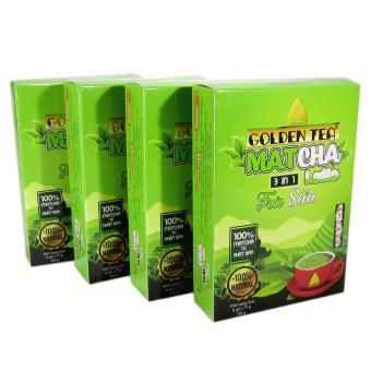 Bộ 4 hộp 8 gói Matcha trà sữa 3in1 Golden Tea 136g