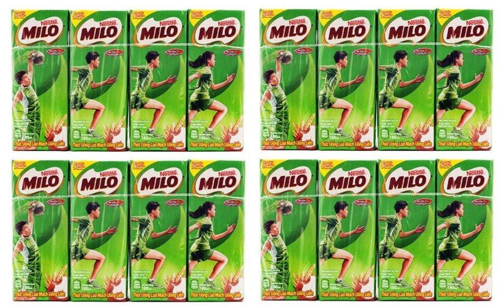 Bộ 4 lốc sữa Nestlé Milo 180ml
