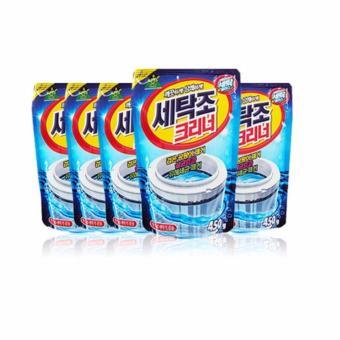 Bộ 5 gói bột tẩy vệ sinh lồng máy giặt Korea Sandokkaepi 450g HH6H