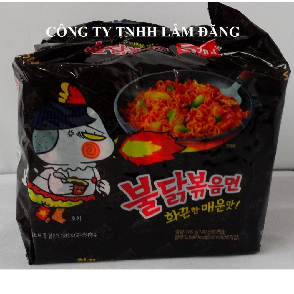 Bộ 5 gói Mỳ siêu cay Hàn Quốc Samyang 140Gram/ Gói