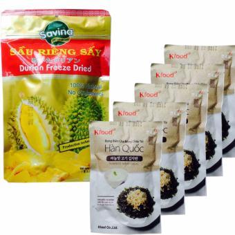 Bộ 5 gói rong biển chà bông cháy tỏi Hàn Quốc ăn liền, ngon cơm vàGói sầu riêng Savina sấy giòn (100gr) - 8228643 , KO869WNAA38DX9VNAMZ-5652672 , 224_KO869WNAA38DX9VNAMZ-5652672 , 406000 , Bo-5-goi-rong-bien-cha-bong-chay-toi-Han-Quoc-an-lien-ngon-com-vaGoi-sau-rieng-Savina-say-gion-100gr-224_KO869WNAA38DX9VNAMZ-5652672 , lazada.vn , Bộ 5 gói rong biển c