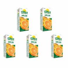 Bộ 5 Hộp Nước cam ép Hộp giấy Vinamilk Vfresh Necta 1L