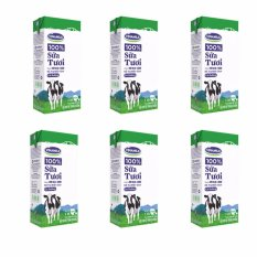 Bộ 6 Hộp Sữa tươi tiệt trùng Vinamilk 100% Có đường – Hộp giấy 1L