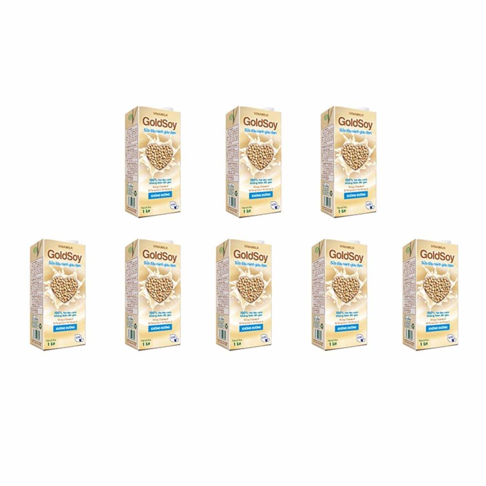 Giá Niêm Yết Bộ 8 Hộp Sữa đậu nành GoldSoy Giàu Đạm không đường 1L (Hộp giấy)