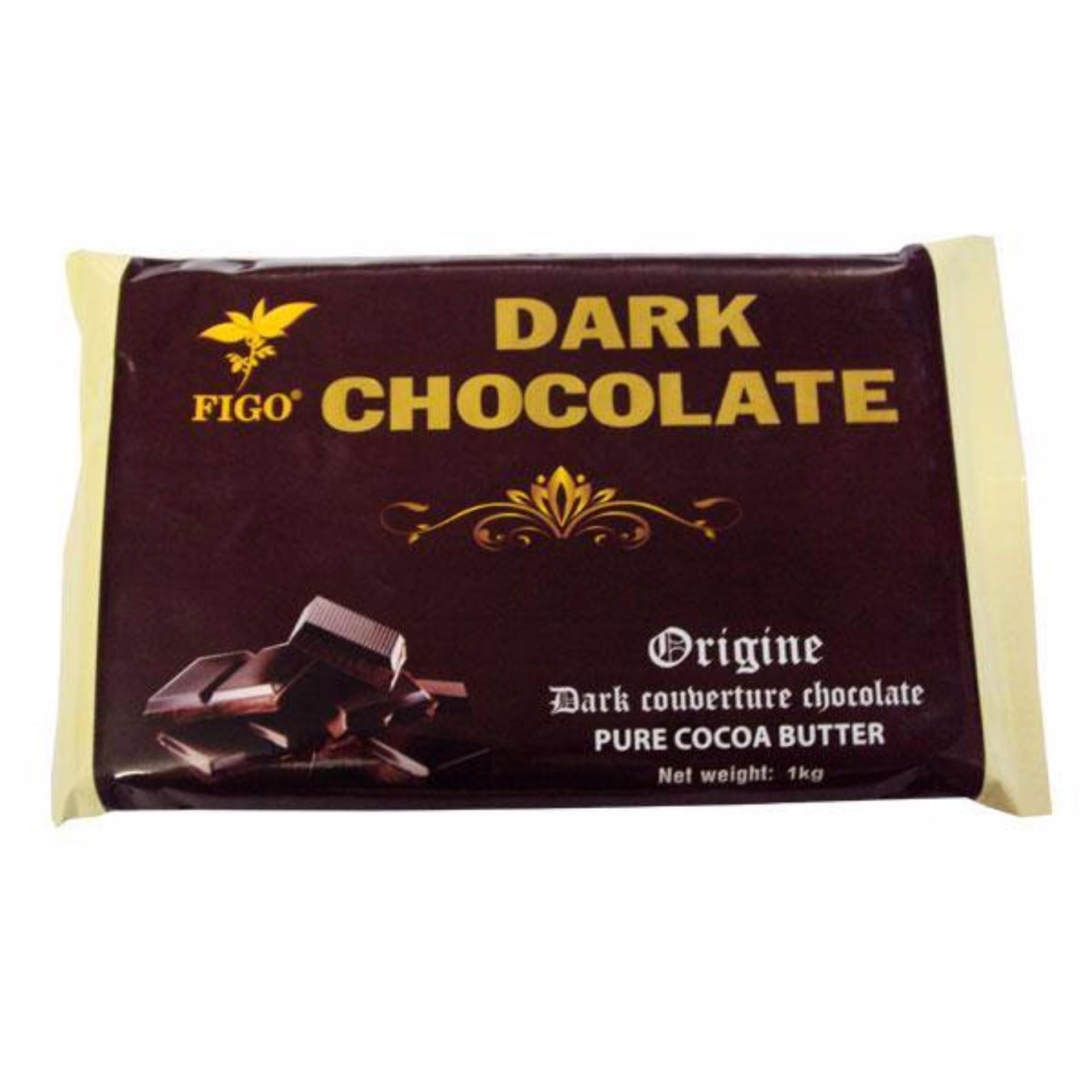 Giá Khuyến Mại Bộ combo 5kg Chocolate đen làm bánh 65% cacao Figo
