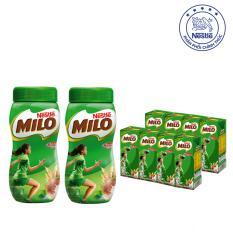 Chi tiết sản phẩm Bộ MILO ACTIV-GO 2 Hũ Dạng Bột ( 2x 400g) và 2 Lốc Dạng Nước uống liền (8 x 180ml)
