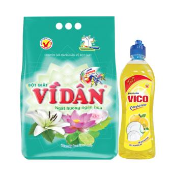 Bộ sản phẩm bột giặt Vì Dân ngát hương ngàn hoa 6kg và nước rửachén VICO vàng 400g - 8825254 , VI185WNAA59OTKVNAMZ-9685834 , 224_VI185WNAA59OTKVNAMZ-9685834 , 233000 , Bo-san-pham-bot-giat-Vi-Dan-ngat-huong-ngan-hoa-6kg-va-nuoc-ruachen-VICO-vang-400g-224_VI185WNAA59OTKVNAMZ-9685834 , lazada.vn , Bộ sản phẩm bột giặt Vì Dân ngát hương