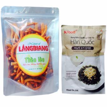 Bộ Snach Thèo Lèo cay giòn và snack rong biển chà bông Hàn Quốc