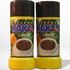 Bột cacao Headman ( 2 in 1 )Hộp Nhựa 400 gr ( Bộ 2 hộp)