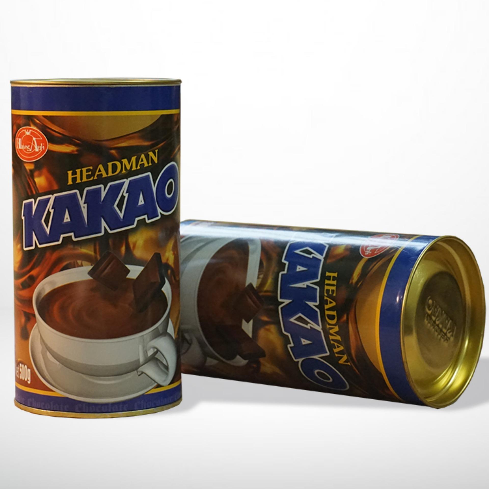 Bột cacao Headman ( 2 in 1 )Hộp Tròn 500 gr ( Bộ 2 hộp)