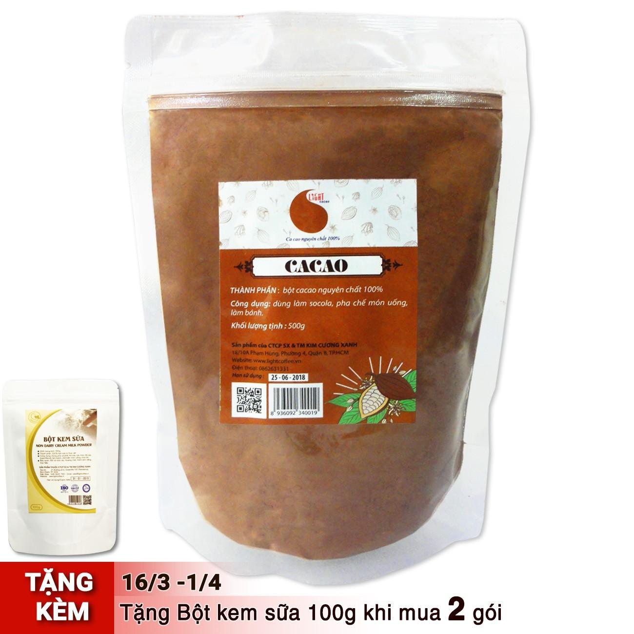 Chỗ nào bán Bột cacao làm bánh nguyên chất 100% – Light cacao – 500gr