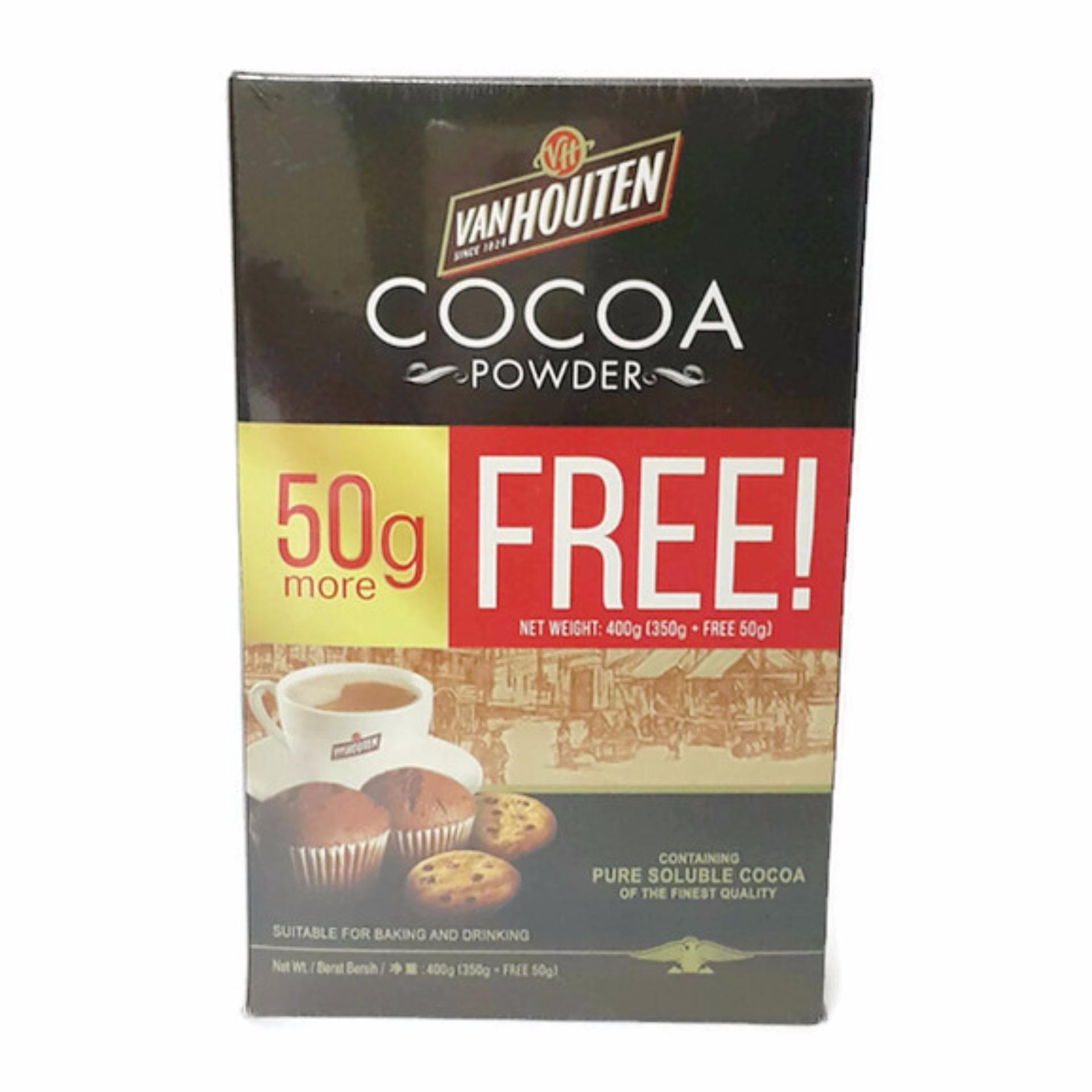 So Sánh Giá Bột Cacao Vanhouten Không Đường Hộp 350g+50g