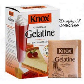 Bột Gelatine nhập khẩu Mỹ 1 hộp 32 gói Decoshop68