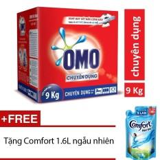 Nơi nào bán Bột giặt Omo chuyên dụng 9kg (Hộp)+ Tặng nước xả Comfort mùi ngẫu nhiên 1.6L