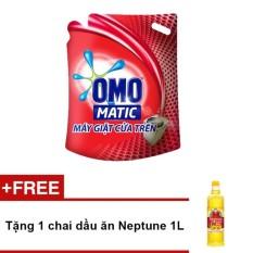 Bột giặt Omo đỏ 6kg + Tặng 1 chai dầu ăn Neptune 1L