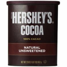Bột sôcôla Herschey's 100% cacao tự nhiên không chất làm ngọt 452gr