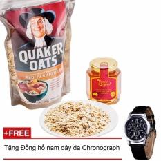Nơi nào bán Bột Yến Mạch Quaker Oats 500g + Tặng đồng hồ nam dây da
