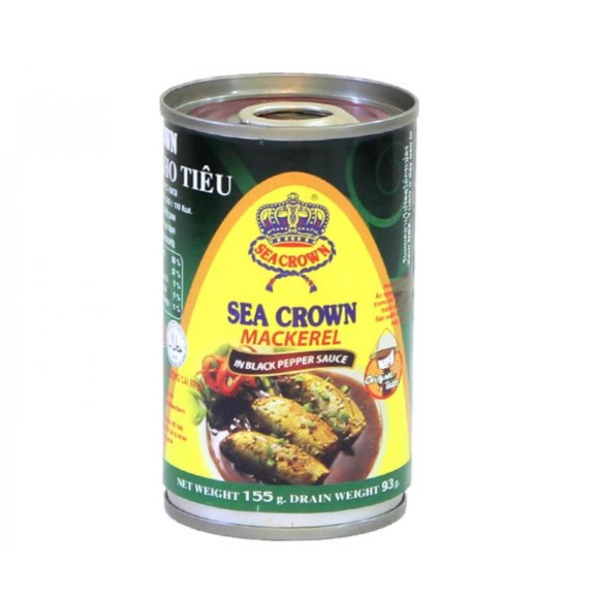 Combo 2 Lon Cá nục kho tiêu Sea Crown 155g