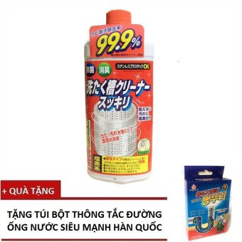 Chai Dung dịch vệ sinh lồng máy giặt Rocket Siêu diệt khuẩn - Nhật Bản 550g + Tặng 1 Túi bột thông tắc đường ống - 8711563 , RO380WNAA32ZG9VNAMZ-5368154 , 224_RO380WNAA32ZG9VNAMZ-5368154 , 119000 , Chai-Dung-dich-ve-sinh-long-may-giat-Rocket-Sieu-diet-khuan-Nhat-Ban-550g-Tang-1-Tui-bot-thong-tac-duong-ong-224_RO380WNAA32ZG9VNAMZ-5368154 , lazada.vn , Chai Dung dị