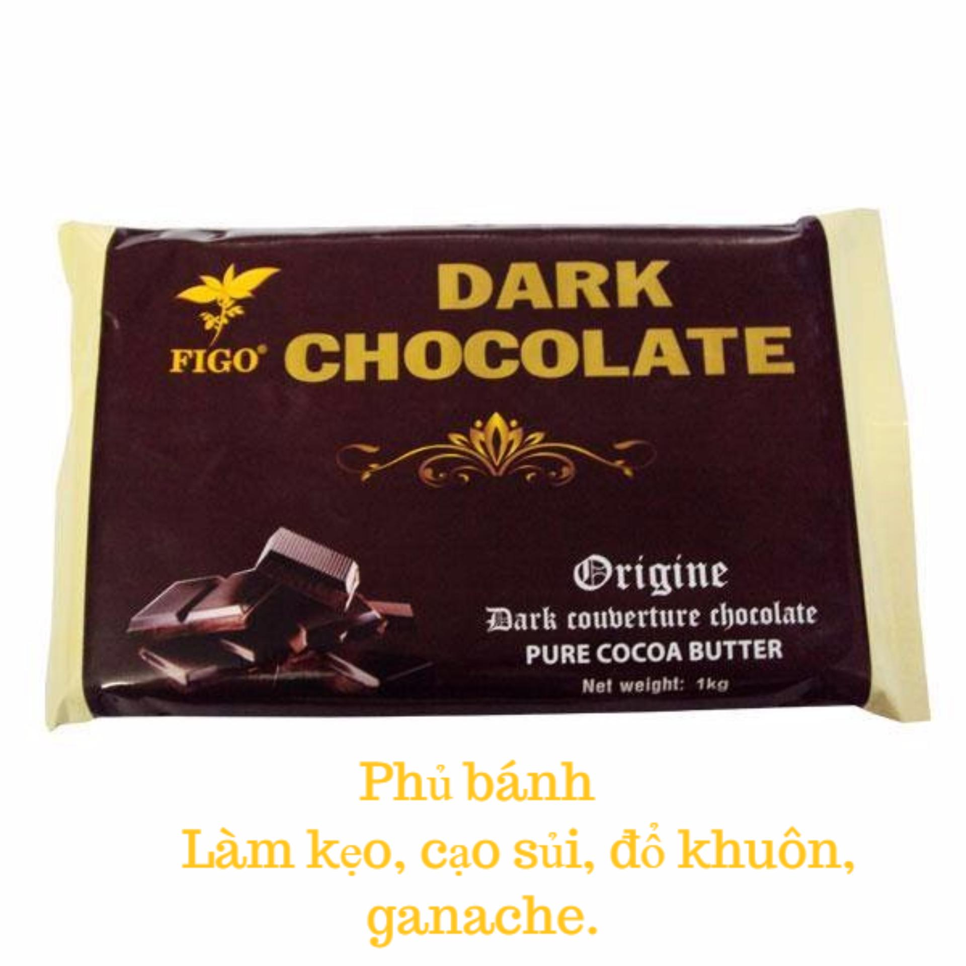 Chỗ bán Chocolate đen làm bánh 65% cacao Figo 500gram