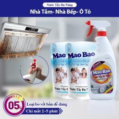 Tẩy Đa Năng Mao Bao – Combo 01 Chai 600ml + 02 Túi 600ml
