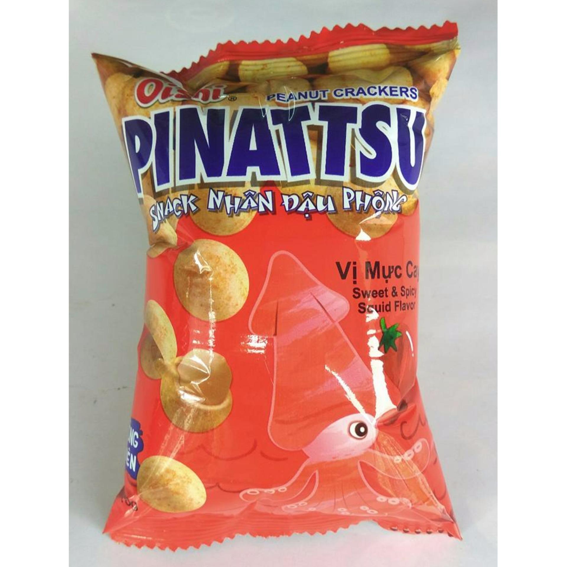 Nơi mua Combo 10 Gói Snack Nhân Đậu Phộng Vị Mực Cay (18g x 10 Gói)