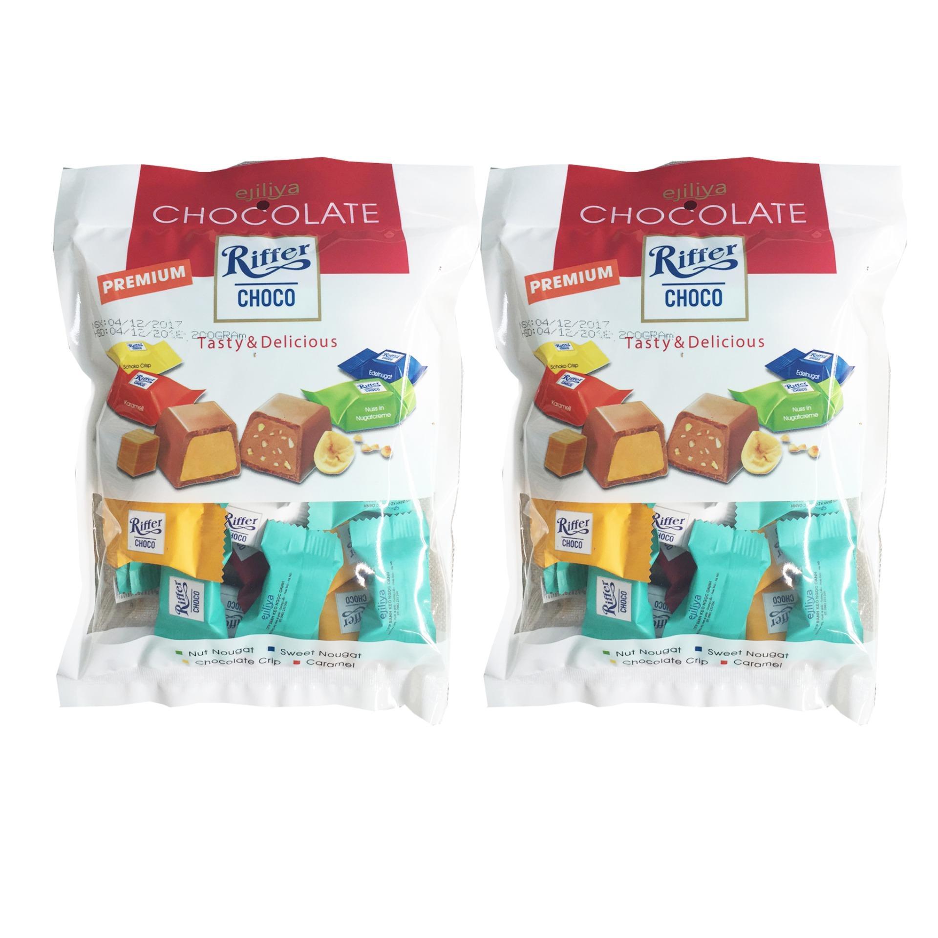 Combo 2 túi Kẹo Socola Riffer 4 vị trong một túi 200g [SuPhat Shop]