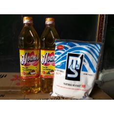 Combo 2 chai dầu ăn Cao Cấp Avanto 880ml + KM muối Visaco MS 500gr
