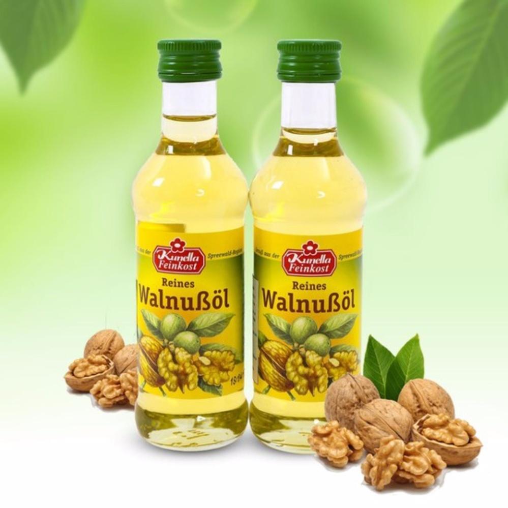 Mẫu sản phẩm Combo 2 chai dầu óc chó Đức Kunella Feinkost WalnuBol 100ml(nhập khẩu)