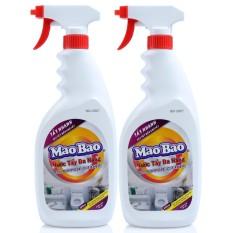 Combo 2 Chai nước tẩy đa năng Mao Bao 600ml (A)