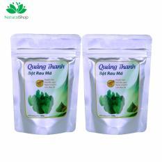 Bộ 2 gói bột rau má sấy lạnh Quảng Thanh 100g