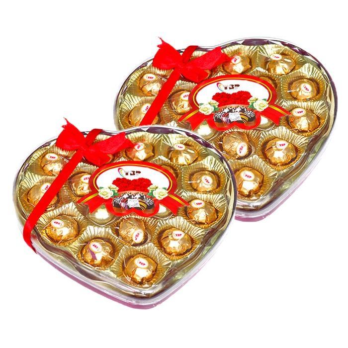 Vì sao mua Combo 2 hộp Chocola hình trái tim viên tròn Kmdeal