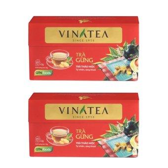 Combo 2 hộp trà Vinatea gừng túi lọc