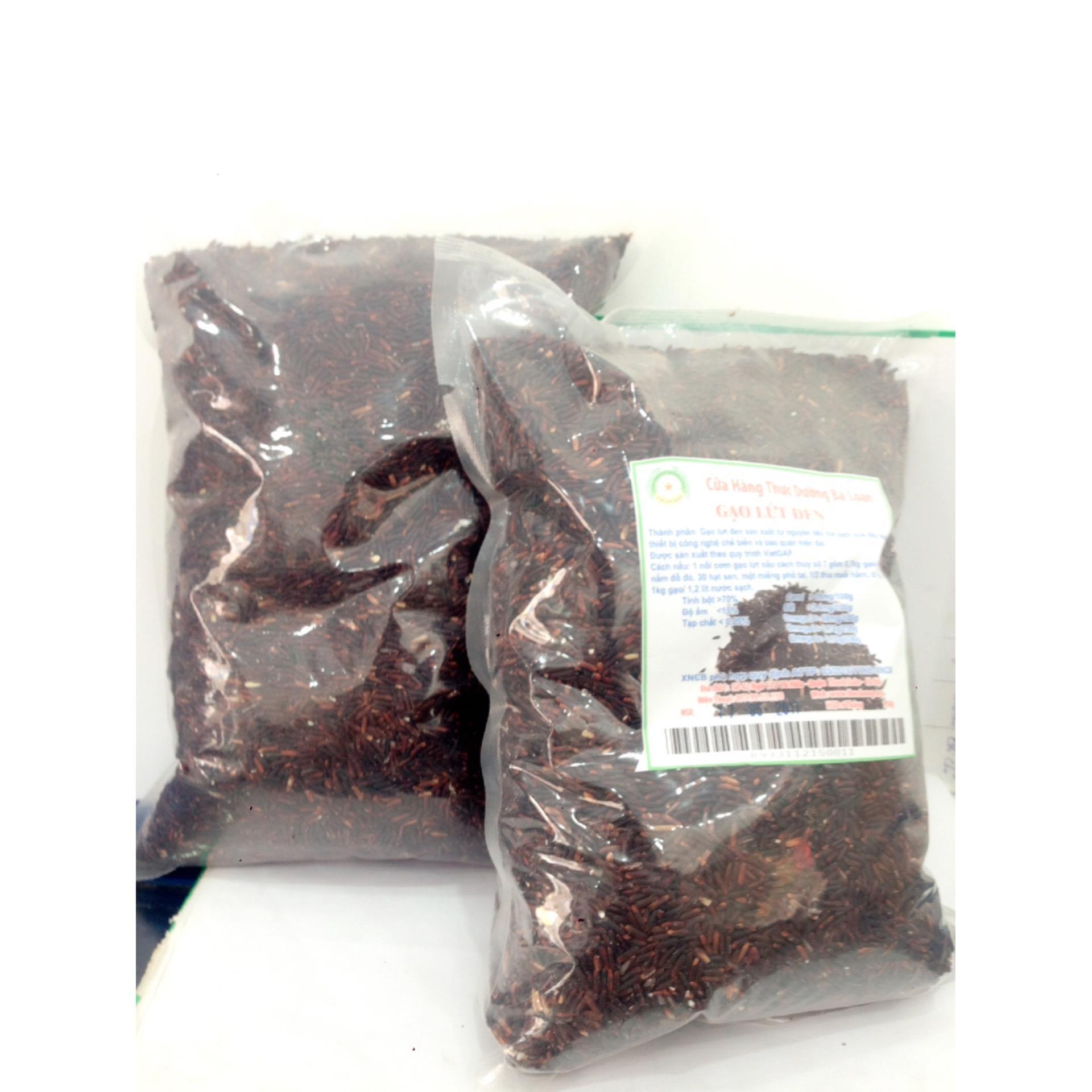 Combo 2 túi gạo lứt đen VietGap