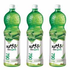 Combo 3 chai Nước nha đam Woongjin chai 1.5L