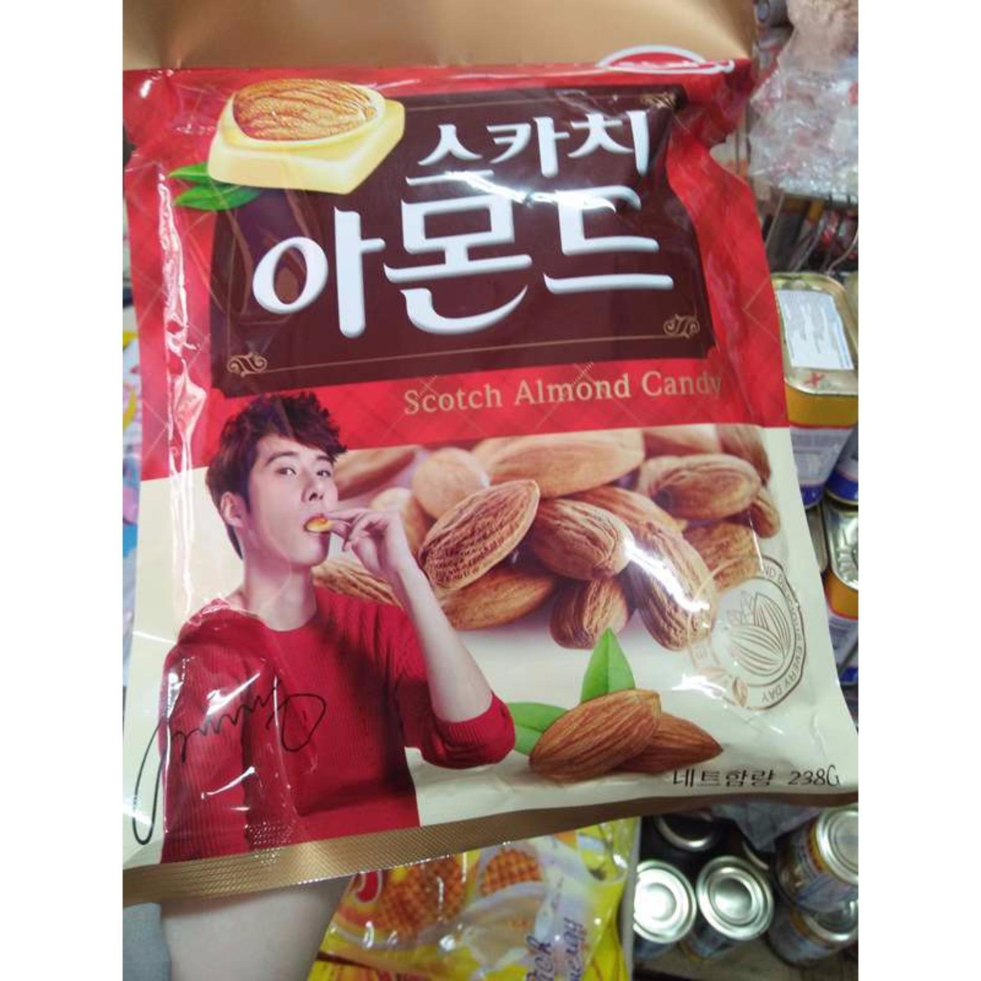 Mẫu sản phẩm COMBO 3 gói Kẹo Sữa Hạnh Nhân Hàn Quốc 238gr/ gói
